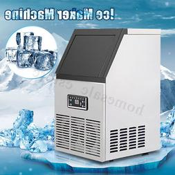 110lbs commercial ice maker machine stainless steel