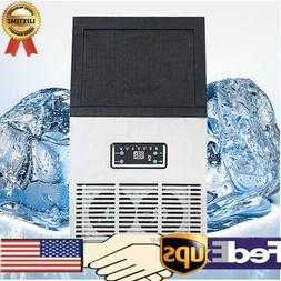 110V Auto Clear Cube Ice Making Machine Commercial Ice Maker