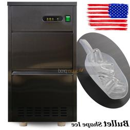 60 LBS Commercial Auto Electric Clear Bullet Ice Maker Count