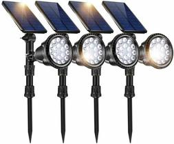 JSOT 18 LED Solar Spot Lights,2-in-1 Wireless Solar Spotligh