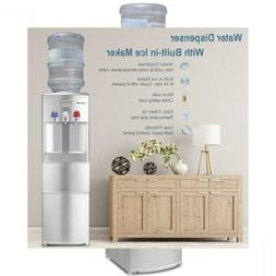 2-in-1 Water Cooler Dispenser with Built-in Ice Maker Freest