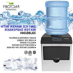 2 in 1 Water Dispenser w/Built in Ice Maker Portable Stainle