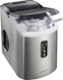 26 lb portable ice maker stainless steel