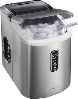 Insignia- 26-Lb. Portable Ice Maker - Stainless steel