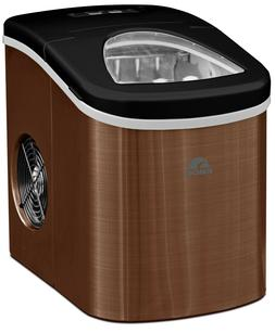 Igloo 26lb A Day Compact Quiet Ice Maker Copper Stainless St