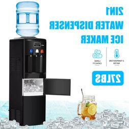 2IN1 Electric Hot Cold Water Dispenser Ice Maker Machine wit