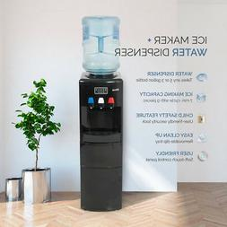 2in1 Electric Water Dispenser Hot / Cold Ice Maker Machine S