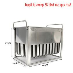 30X Stainless Steel Ice Lolly Popsicle Molds Kit Popsicle Mo