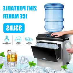 Electric 5 Gallon Water Dispenser Built-In Ice Maker Machine