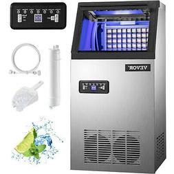50kg Automatic Commercial Ice Maker Cube Machine Stainless S
