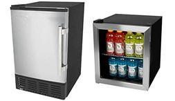 Edgestar 62 Can Extreme Cool Beverage Cooler and 12lb Built