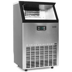 99lbs / hr Freestanding Ice Maker Commercial Built-in Ice Cu