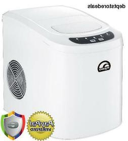 "Igloo - 9.5"" 26-lb. Portable Icemaker - White"