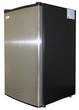 Spt - 3.0 Cu. Ft. Upright Freezer - Stainless Steel/black