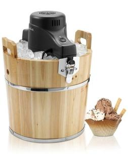 Sunbeam FRSBWDBK- NP 4-Quart Ice Cream Wooden Bucket