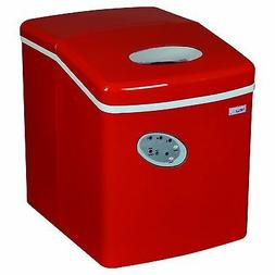 NewAir AI-100R 28 lbs Portable Ice Maker with Ice Scoop Red
