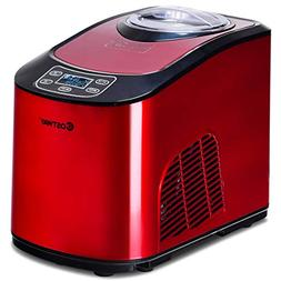 COSTWAY Automatic Ice Cream Maker, Electric Programmable LED
