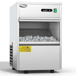 Automatic Ice Maker Stainless Steel 58lbs/24h Freestanding C