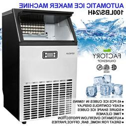 Commercial Ice Maker Freestanding Stainless Steel 45pcs / 15