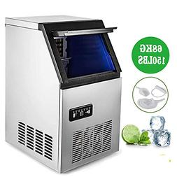 Happybuy Commercial Ice Maker Machine Stainless Steel Automa