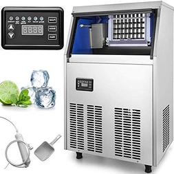 VEVOR 110V Commercial Ice Maker Stainless Steel Portable Aut