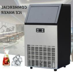 Commercial Ice Maker Stainless Steel Built-in Ice Cube Machi