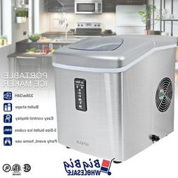 Compact Ice Maker Portable Stainless Steel Countertop 3-Size