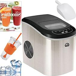 Igloo Compact Portable Ice Maker  Plus Smoothie Bible Bundle