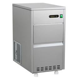 Countertop Commercial Nugget Ice Maker Machine Kitchen 60LB/