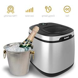 Gladwell Countertop Ice Maker Machine - Portable Nugget Ice