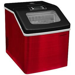 Frigidaire Countertop Ice Maker | Red Stainless Steel | EFIC