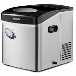 Countertop Ice Maker Stainless Steel 48lb Per Day Freestandi