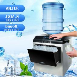Water Dispenser w/ Built-In Ice Maker Machine Counter Portab
