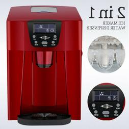 2 in 1 Electric Countertop Ice Maker Machine Compact Water D