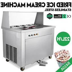 Hot Fried Ice Cream Machine 22L/H Yogurt Making Roll Ice Mak