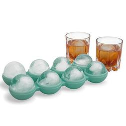Ivation Ice Ball Maker Mold Tray - Yields 8 Large 2.4 Inch,