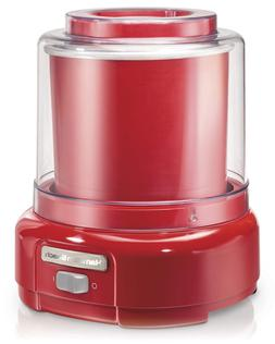Hamilton Beach Ice Cream Maker 1.5-Quart Red 68881Z Makers S