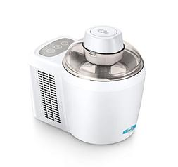 Ice Cream Maker, White  Mix Your Ingredients Push Button Rea