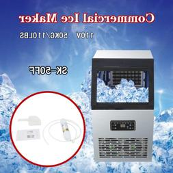 Ice Cube Machine Commercial Ice Maker 50kg Auto 110Lbs 230W