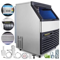 Commercial 440LBS Ice Maker Ice Cube Machine Automatic Digit