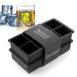 2-In Large Ice Cube Silicone Tray 8 Cavity Ice Maker Chill C