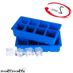BonBon Large Ice Cube Tray 2-Inch Silicone Flexible 8 Cavity