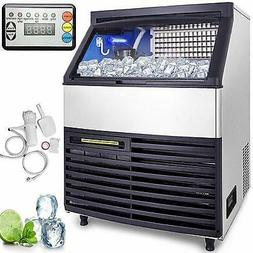Ice Maker Commercial Ice Cube Machine 130KG 24H Stainless St