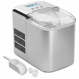 COSTWAY Ice Maker Machine 26LBS/24H with LCD Display Clear O