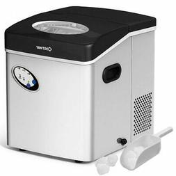 COSTWAY Ice Maker Machine, 48LBS/24H Portable Ice Maker Clea