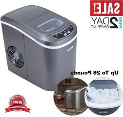 Ice Maker Portable Cube Machine Compact Counter Refrigerator