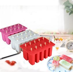 Ice Makers Mold Silicone Freezer Ice Cream Popsicle Mould Fo
