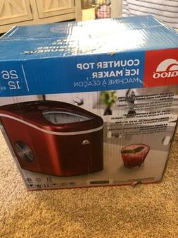 Igloo ICE108 Portable Countertop Ice Maker - Red