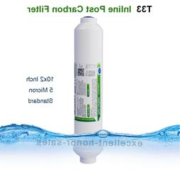 """INLINE POST CARBON FILTER 2""""x 10"""" REVERSE OSMOSIS RO WATER F"""