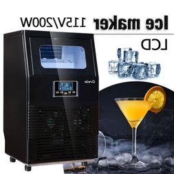 intelligent automatic lcd commercial ice maker rapid